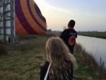 Uitstekende ballon vaart opgestegen op startveld Joure zondag  8 april 2018