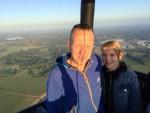 Exceptionele luchtballon vaart vanaf startlocatie Enschede zondag  8 juli 2018