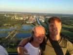 Fantastische heteluchtballonvaart gestart in Hengelo zondag  8 juli 2018