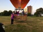 Plezierige ballon vaart opgestegen op startlocatie Maastricht zondag 8 juli 2018