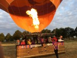 Majestueuze luchtballon vaart vanaf startlocatie Tilburg zondag  8 juli 2018
