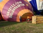Plezierige luchtballon vaart in de omgeving van 's-hertogenbosch op zondag 9 september 2018